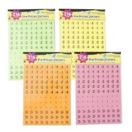 120 Wholesale Preprice Stickers Neon Colors