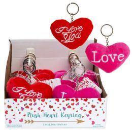 24 Units of Plush Heart Valentine Keyring - Valentines