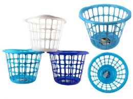 48 Units of Laundry Basket Assorted Color - Laundry Baskets & Hampers