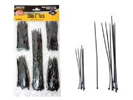 144 Bulk Cable Ties 250pc Black Color