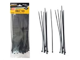 "96 Bulk Black Cable Ties 75pc 8"" Long"