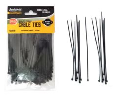 """96 of Cable Ties 200pc 4"""" Long Black Clr"""