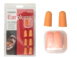 144 Units of Earplugs 4 Pairs With Case - Earplugs