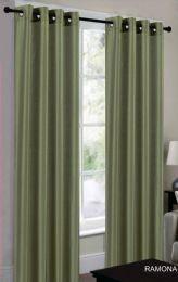 24 Units of Ramona Sage Grommet Panel - Window Curtains