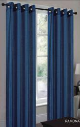 24 Units of Ramona Navy Blue Grommet Panel - Window Curtains