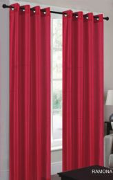 24 Units of Ramona Red Grommet Panel - Window Curtains