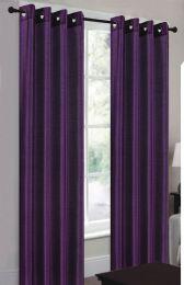 24 Units of Ramona Purple Grommet Panel - Window Curtains