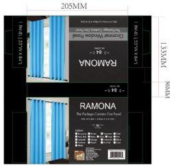 24 Units of Ramona Torquoise Grommet Panel - Window Curtains