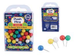96 Wholesale 100pc. Round Push Pins