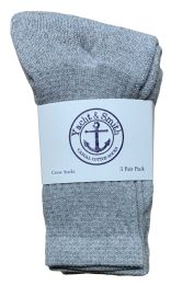 240 Units of Yacht & Smith Kids Cotton Crew Socks Gray Size 4-6 Bulk Pack - Kids Socks for Homeless and Charity