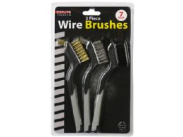 18 Units of 3 Pack Mini Wire Brush Set - Cleaning Supplies