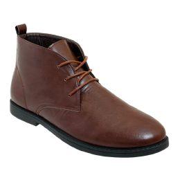 12 Units of Mens Casual Chukka Boot In Brown - Men's Footwear