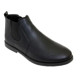 12 Units of Mens Casual Chukka Ankle Boots In Black - Men's Footwear