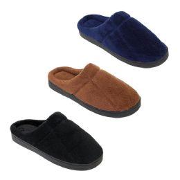 36 Units of Mens Classic Slip On Winter Slippers - Men's Slippers
