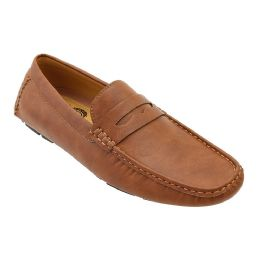 12 Units of Mens Penny Loafer Driver Shoes In Brown - Men's Shoes