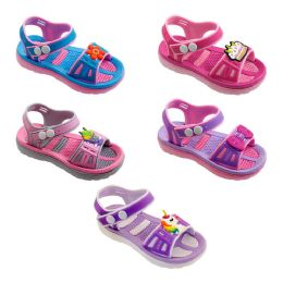 60 Wholesale Girls Cartoon Sandal Assorted Color