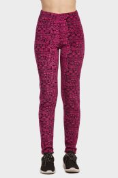 18 of Sofra Ladies Polar Fleece Legging In Hot Pink Size M