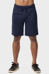 12 Units of Knocker Mens Lightweight Terry Shorts In Navy Size Small - Mens Shorts