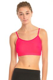 72 of Sofra Ladies Crop Top Camisole In Hot Pink