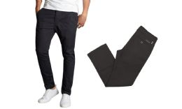 24 of Men's SliM-Fit Cotton Stretch Chino Pants Solid Black