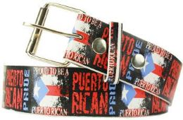 96 Units of Proud To Be A Puerto Rican Belt - Belts