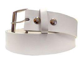 36 Units of Medium White Plain Belt - Belts