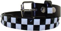 36 of Kids Studded Belts In Black And White