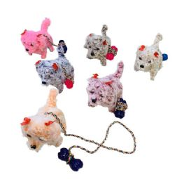 24 Wholesale Barking And Walking Dog With Leash [light Up Head & Tail]