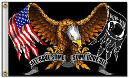 24 Units of Eagle Flag With Flag Pow Wings - Flag