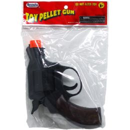 """144 Units of 5"""" Toy Pellet Revolver Gun In Pegable Pp Bag - Toy Weapons"""