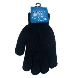 48 Bulk Ladies Magic Gloves [black Only]
