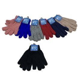 48 Bulk Ladies Magic Gloves [solid Color]