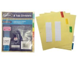 144 Units of Tab Index Dividers 8 Pieces - Dividers & Index Cards