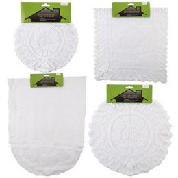 48 of Lace Doily/runner 1/2/3pk Asst White Round/rect/oval Shapes Home Tcd