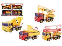 12 Units of Friction Construction Vehicle 4 Pcs Set - Cars, Planes, Trains & Bikes