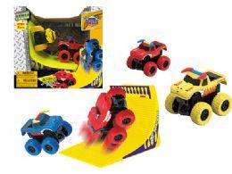 18 Units of Friction Monster Truck (2 Pcs Set) - Cars, Planes, Trains & Bikes