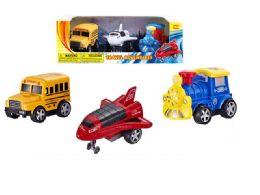 36 Units of Friction Transportation Vehicle - Cars, Planes, Trains & Bikes