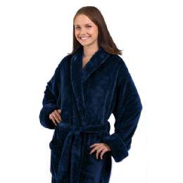 3 Bulk Tahoe Fleece Shawl Collar Robe