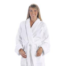 3 Bulk Tahoe Fleece Shawl Collar Robe In White