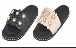 24 of Womens Platform Wedge Flip Flops Sandals Pearl Floral Anti Slip Summer Slides