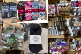 1200 of Mega Sock Pallet Deal Mens Woman And Children Mix Socks - All Kinds Of Socks