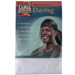 120 Units of Sable Beauty DU-Rag White - Hair Accessories