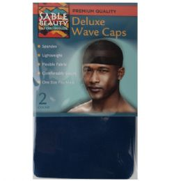 120 Units of Sable Beauty Deluxe Wave Cap 2 Pack Navy - Hair Accessories