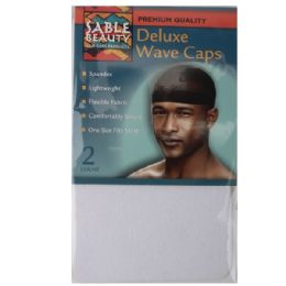 120 Units of Sable Beauty Deluxe Wave Cap 2 Pack White - Hair Accessories