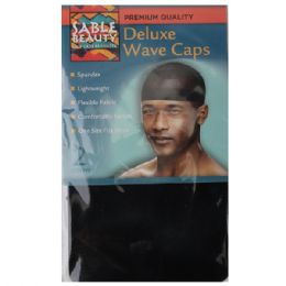 120 Units of Sable Beauty Deluxe Wave Cap 2pk Black - Hair Accessories