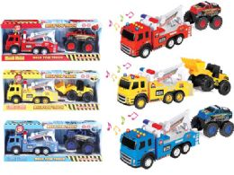 9 Units of Friction Towing Truck with Light & Sound - Cars, Planes, Trains & Bikes