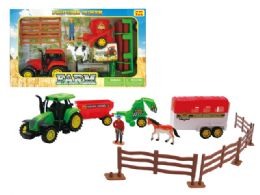 18 Units of Friction Farm Complete Play Set - Cars, Planes, Trains & Bikes