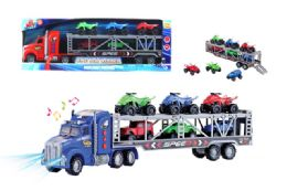 16 Units of Friction Truck Carrier with Light and Sound - Cars, Planes, Trains & Bikes