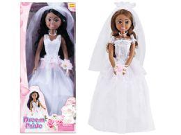 24 Units of Beauty Jumbo Bride Doll Play Set - Dolls