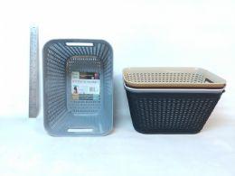 48 Wholesale Pl. Basket Rectangular Deep 5 Asst cl